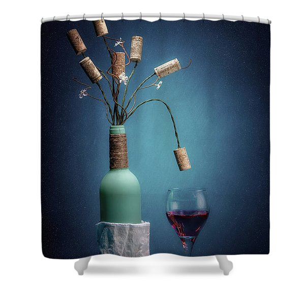 Wine Cork Bouquet Shower Curtain