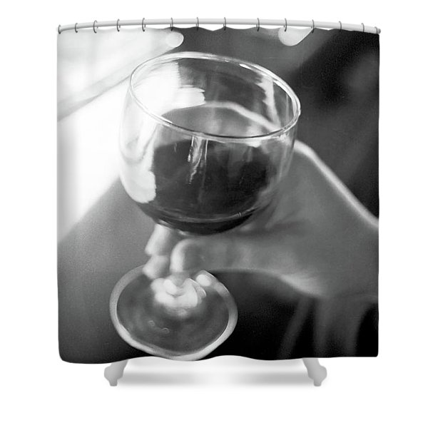 Wine In Hand Shower Curtain