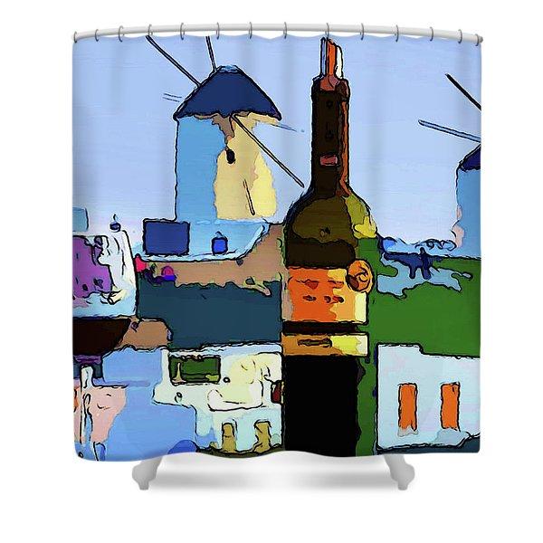 Wine In Mykonos Shower Curtain
