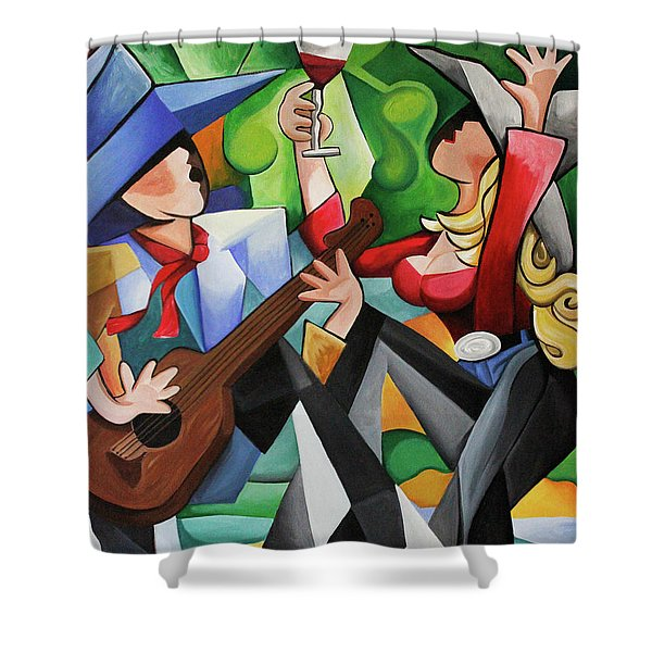 Wine Party Shower Curtain