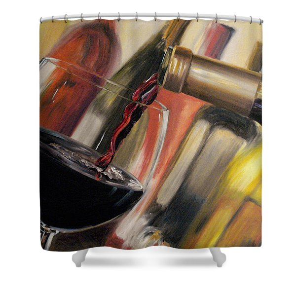 Wine Pour II Shower Curtain