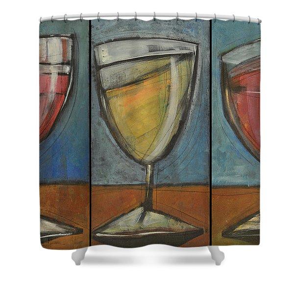 Wine Trio Option 2 Shower Curtain by Tim Nyberg