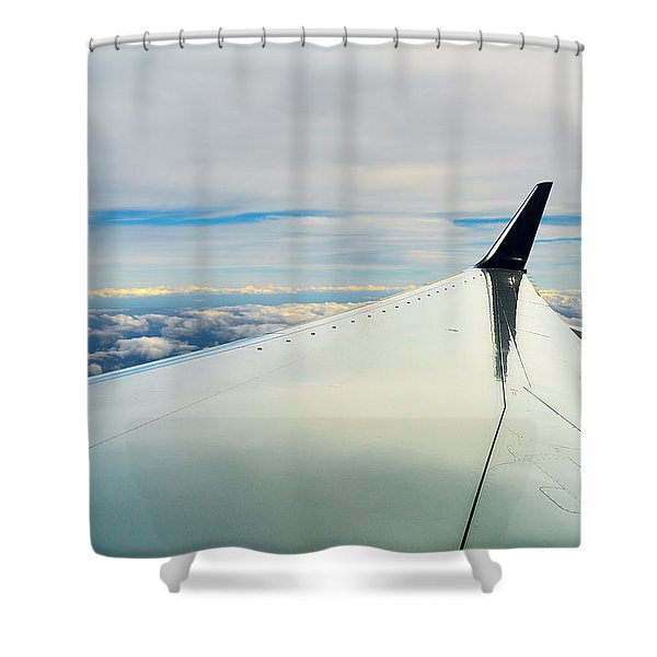 Wing And Clouds Shower Curtain