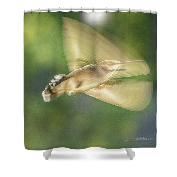Wing Shadow Shower Curtain