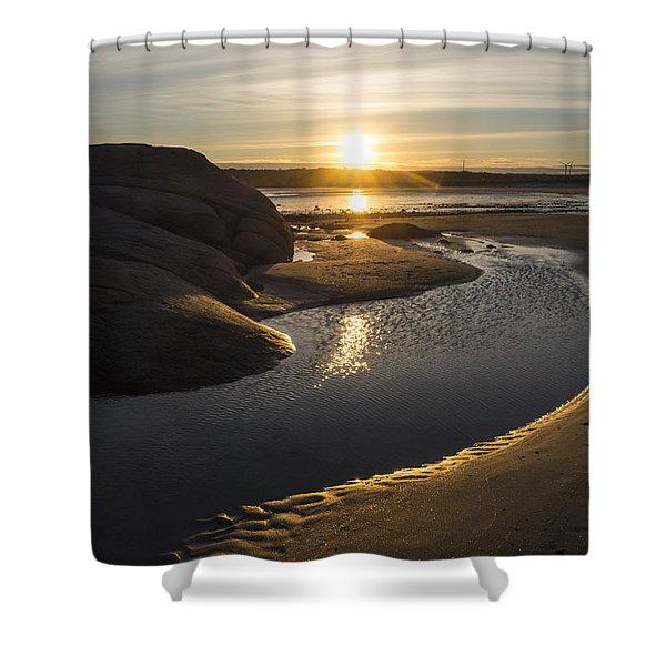 Wingaersheek Beach Sunrise Gloucester Ma Shower Curtain
