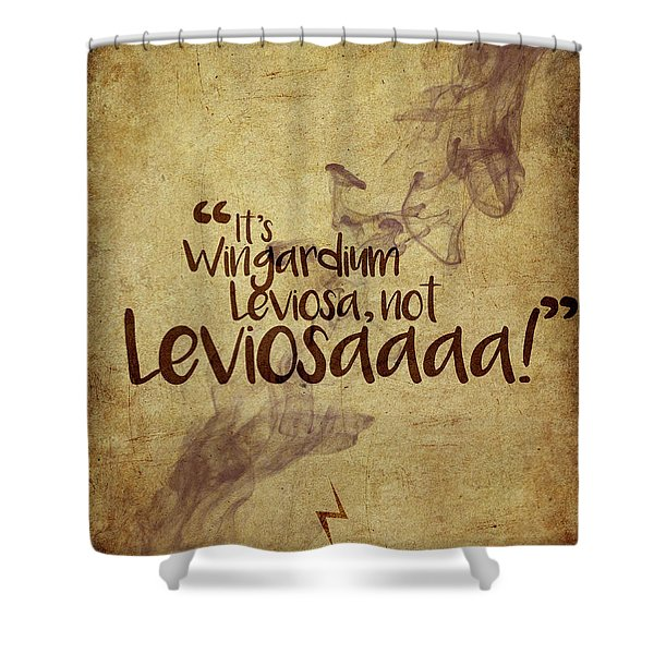 Wingardium Shower Curtain