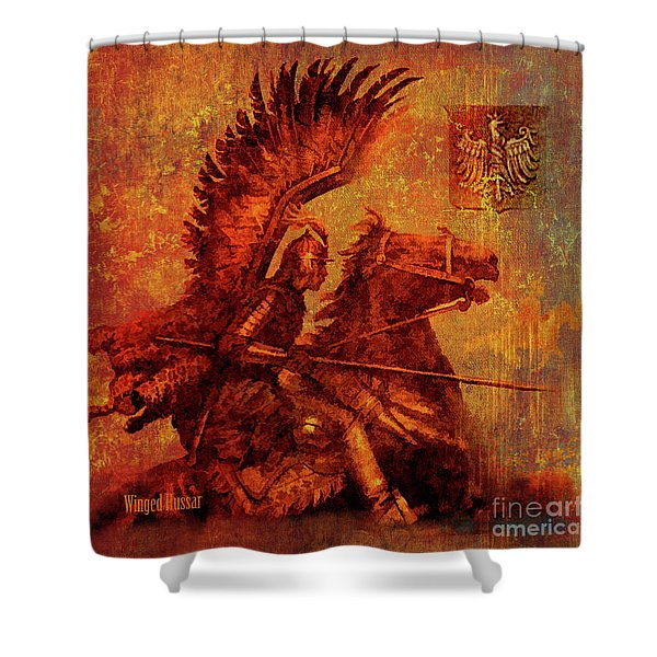 Winged Hussar 2016 Shower Curtain
