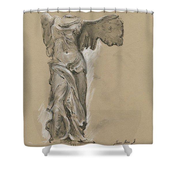 Winged Vicory Of Samothrace Shower Curtain
