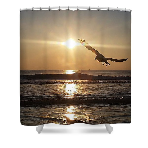 Wings Of Sunrise Shower Curtain