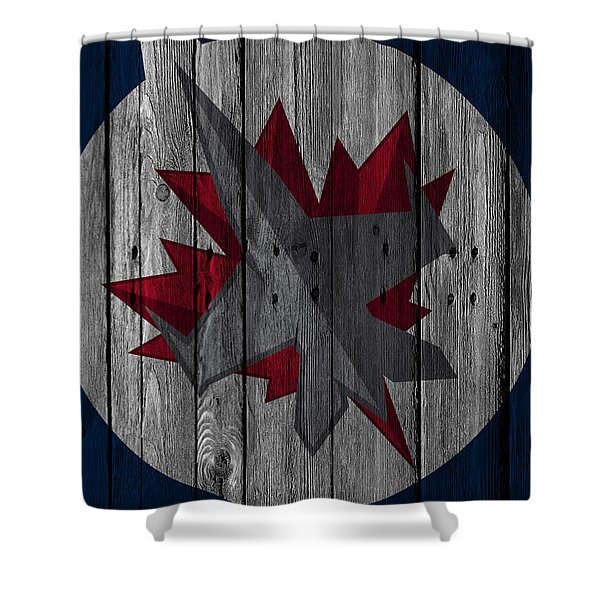 Winnipeg Jets Wood Fence Shower Curtain