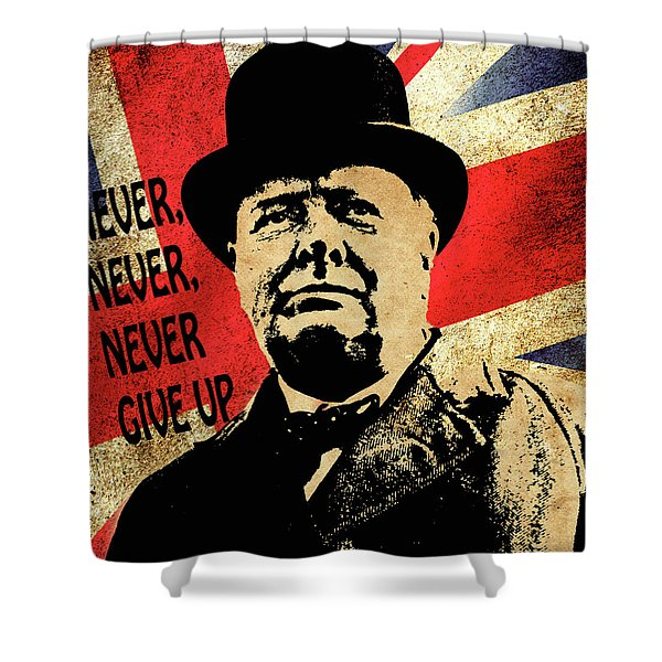 Winston Churchill 2 Shower Curtain