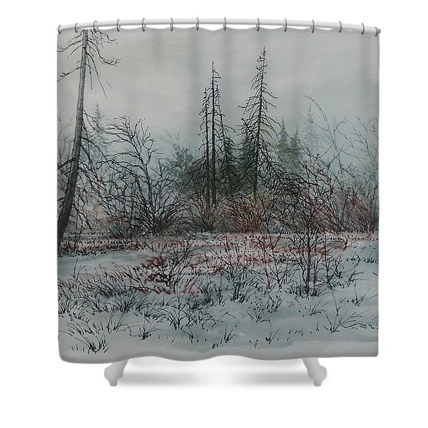 Winter, Alberta Shower Curtain