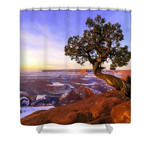Winter At Dead Horse Shower Curtain