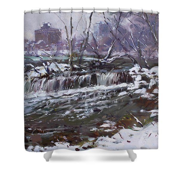 Winter At Goat Island Shower Curtain
