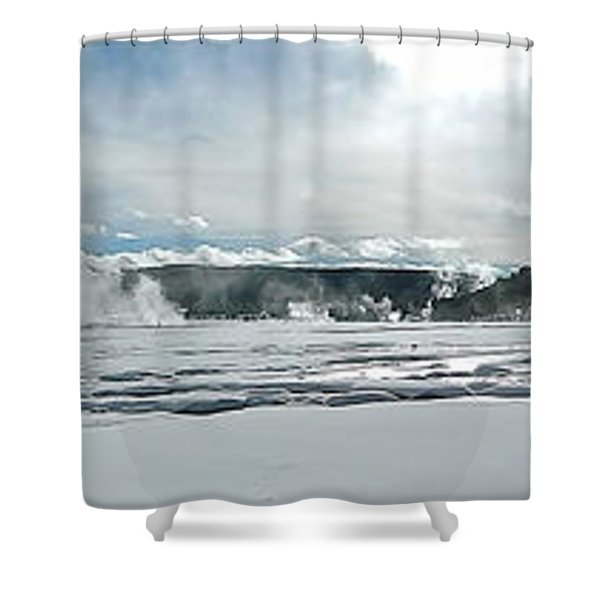 Winter At Grand Prismatic Shower Curtain