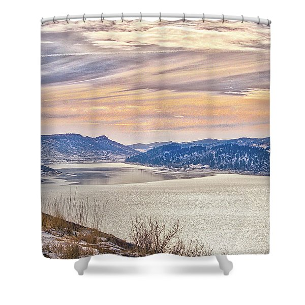 Winter At Horsetooth Reservior Shower Curtain
