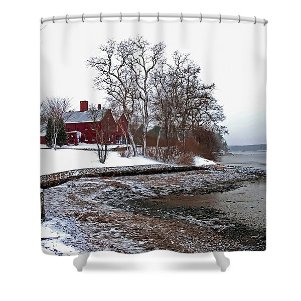 Winter At Perkins House  Shower Curtain