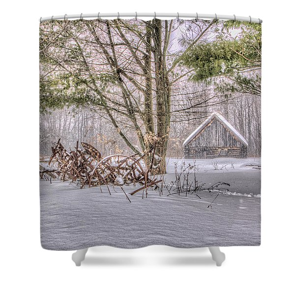 Winter At The Woods Shower Curtain