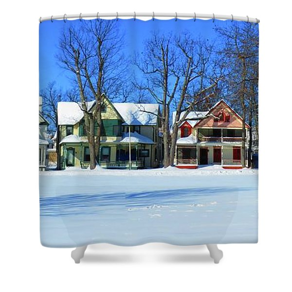 Winter At Ti Park Shower Curtain