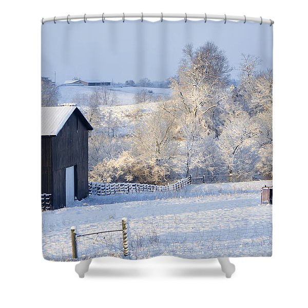Winter Barn 1 Shower Curtain