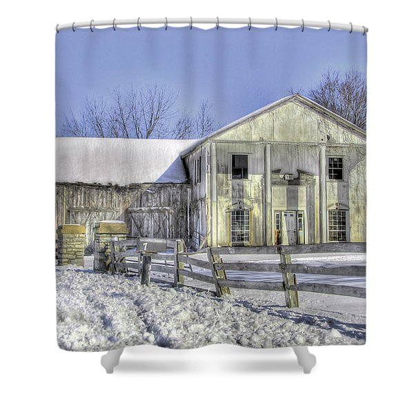 Winter Barn 3 Shower Curtain