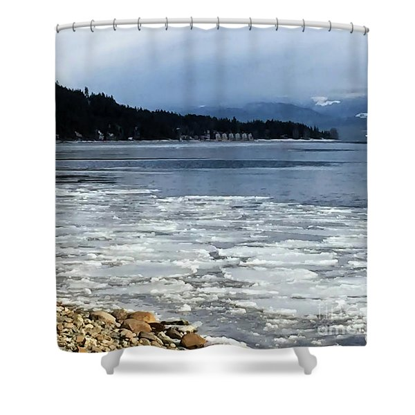 Cottage Life In Winter Shower Curtain