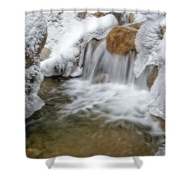 Winter Cascade Nh Shower Curtain