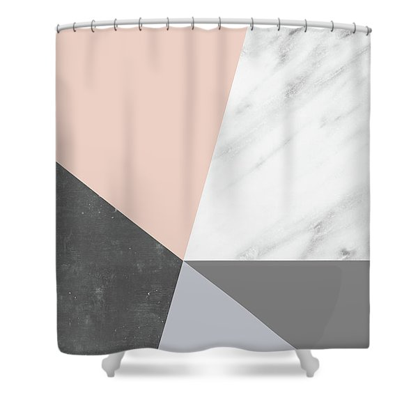 Winter Colors Collage Shower Curtain
