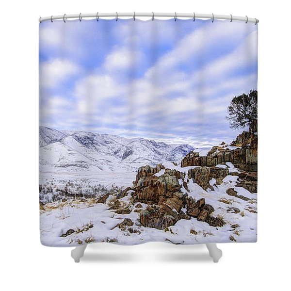 Winter Desert Shower Curtain