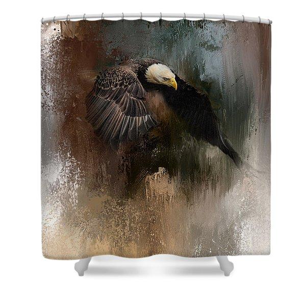 Winter Eagle 2 Shower Curtain