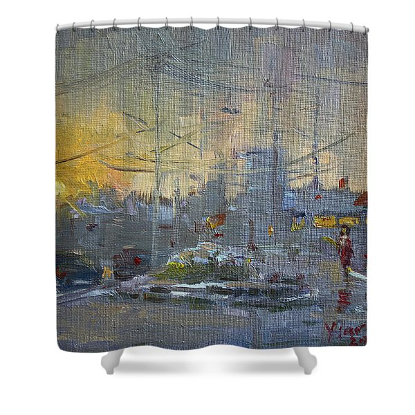 Winter End Of Day Shower Curtain