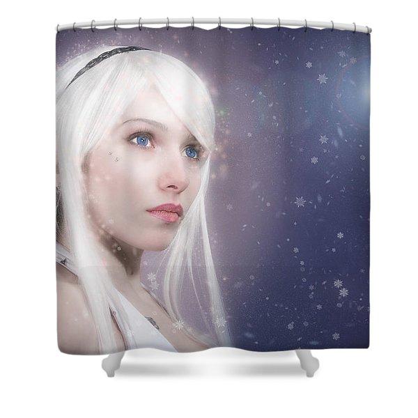 Winter Fae Shower Curtain