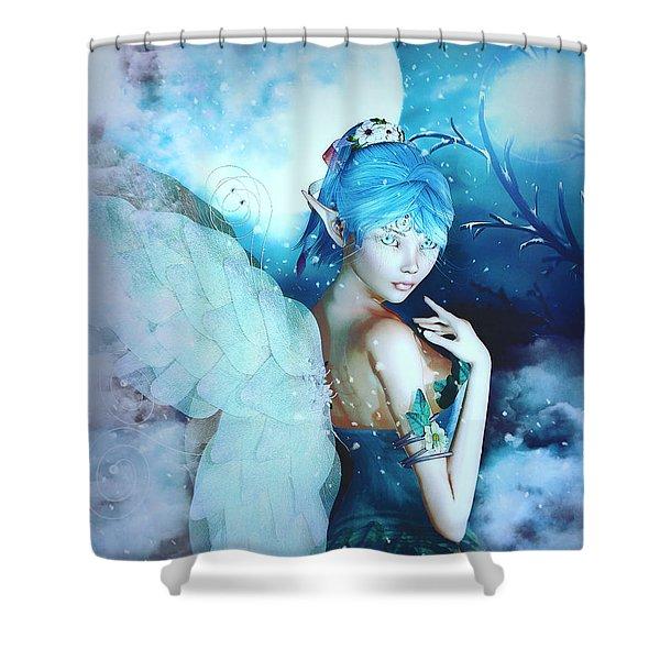 Winter Fairy In The Mist Shower Curtain