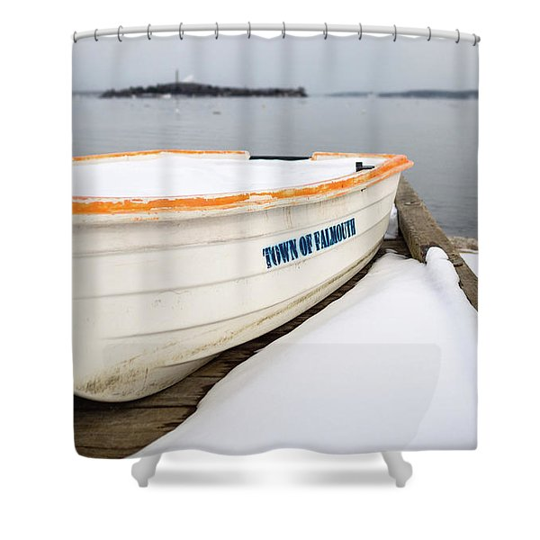 Winter, Falmouth, Maine  -18674 Shower Curtain
