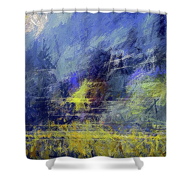 Winter Frosty Morning Shower Curtain