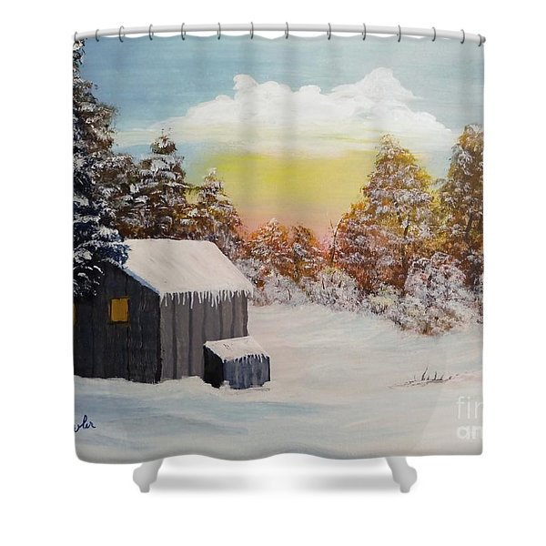 Winter Getaway Shower Curtain