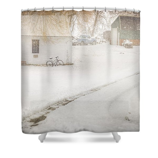 Winter Home Road Shower Curtain