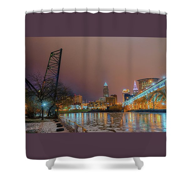 Winter In Cleveland, Ohio  Shower Curtain