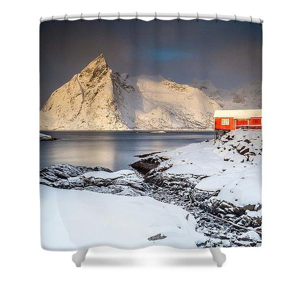 Winter In Lofoten Shower Curtain
