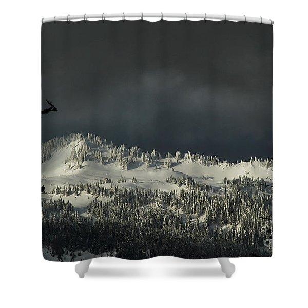 Winter In North Cascades Shower Curtain