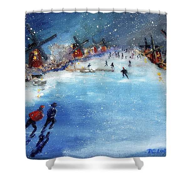 Winter In The Netherlands Shower Curtain