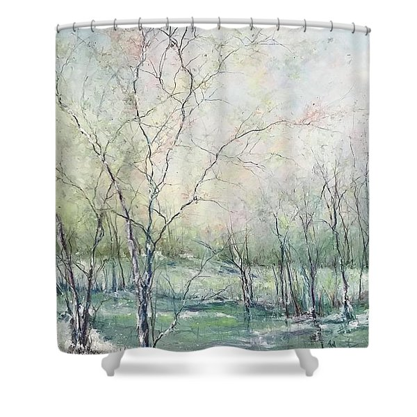 Winter Interlude Shower Curtain