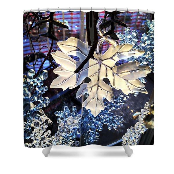 Winter Leaf Shower Curtain