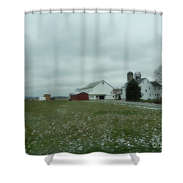 Winter Letting Go Shower Curtain