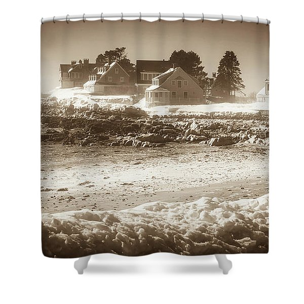 Winter - Lord's Point - Kennebunk Shower Curtain
