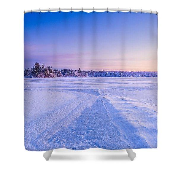 Winter Morning Baxter Lake Nh Shower Curtain
