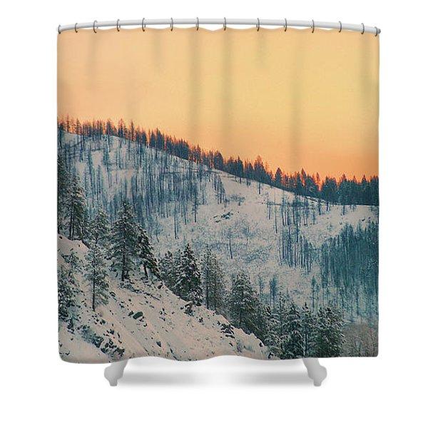Winter Mountainscape  Shower Curtain