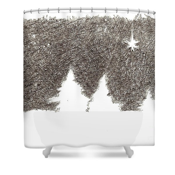Winter Night - Aceo Shower Curtain