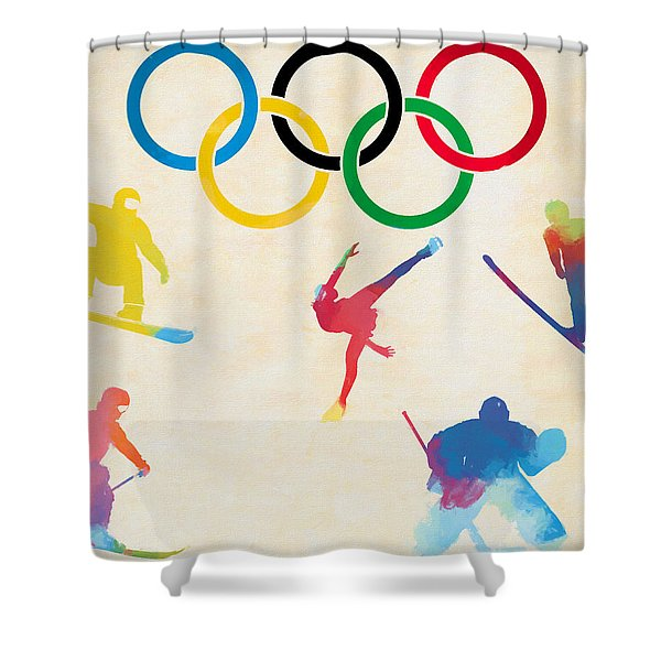 Winter Olympics Games Shower Curtain