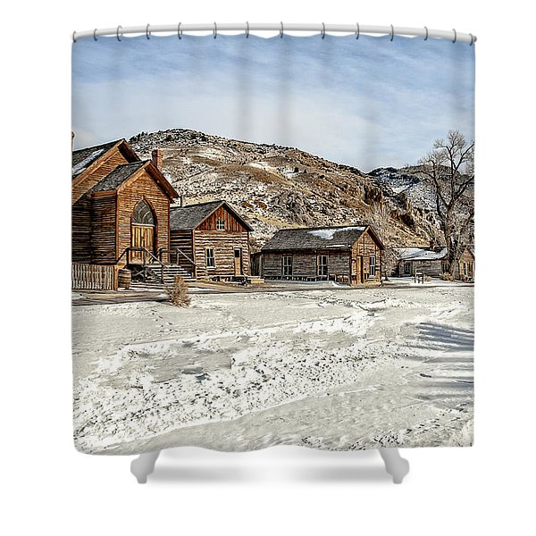 Winter On Main Street Shower Curtain